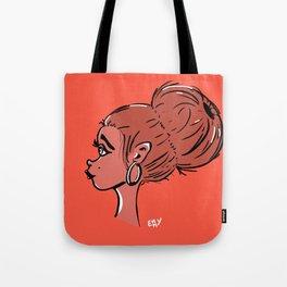 Girl with bun Tote Bag