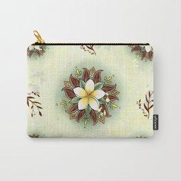 Plumeria Mandala Carry-All Pouch