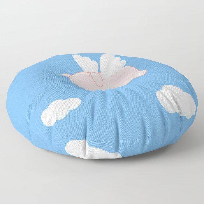 Flying Pig Floor Pillow