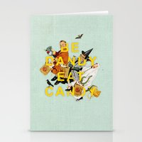 eat Stationery Cards featuring Be Dandy Eat Candy by Heather Landis