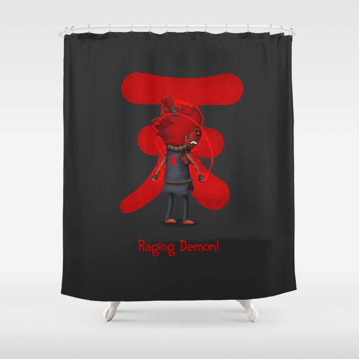 Raging Demon Shower Curtain