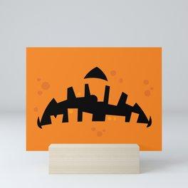 Pumpkin Zombie Mouth Mini Art Print