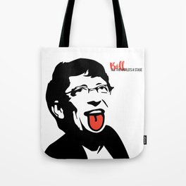 Bill Gates Tongue Art Tote Bag