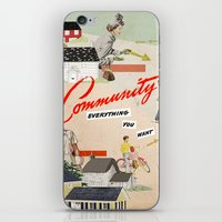 community iPhone & iPod Skins featuring Community by Heather Landis