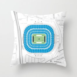 Stadium Traditions: The Panther's Lair (Bank of America Stadium) Throw Pillow