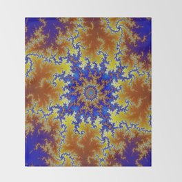 Fractal Checkerboard Throw Blanket