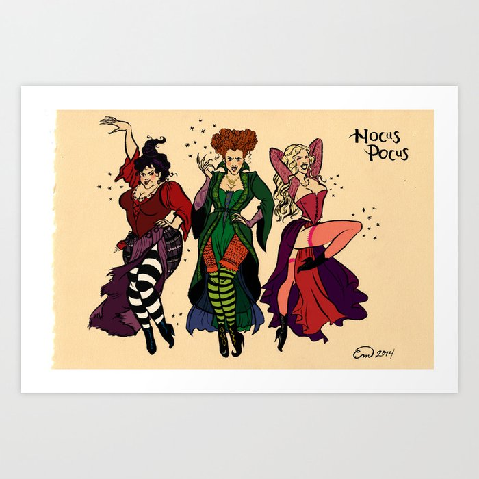 Hocus Pocus Pin Ups Color Art Print