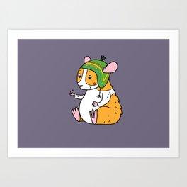 guinea pig in a hat Art Print