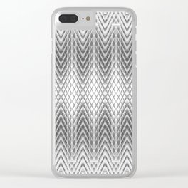 Cool Silver Grey Frosted Geometric Design Clear iPhone Case