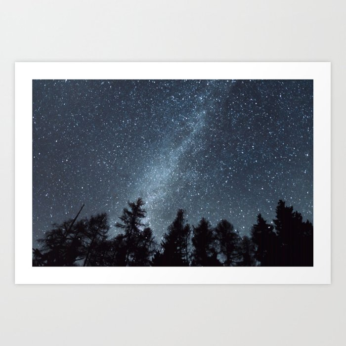 Milky Way in the Woods | Nature and Landscape Photography Kunstdrucke