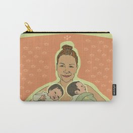 Mother with Twins Carry-All Pouch