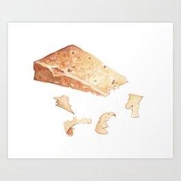 Parmigiano-Reggiano Cheese Art Print