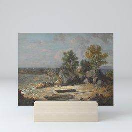 George Loring Brown - Oysterman's Hut Mini Art Print