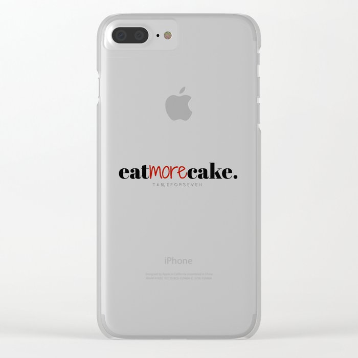 Eat More Cake Clear iPhone Case