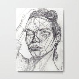 Donna Enigmatica #5; Vivien Solari #1 - Artist: Leon 47 ( Leon XLVII ) Metal Print