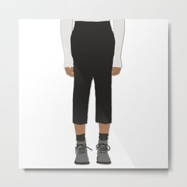 Menswear Fashion Illustration Pant Metal Print