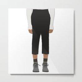 Menswear Fashion Illustration Pant Metal Print
