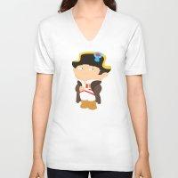 napoleon V-neck T-shirts featuring Napoleon Bonaparte by Alapapaju