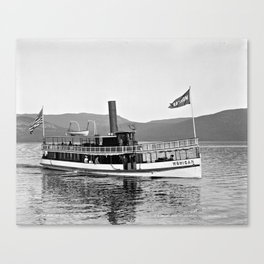 Vintage Mohican Steamboat Canvas Print