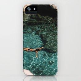 clear blue lagune iPhone Case