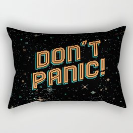 Don't Panic! Pixel Art Rectangular Pillow