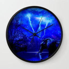 ELEPHANT LIGHTNING AND AFRICAN NIGHTS Wall Clock