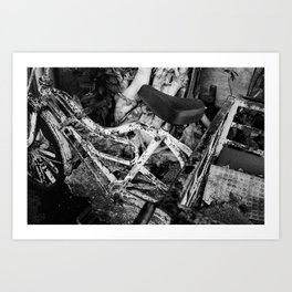 DON'T JUDGE A BOOK - Ilford FP4+ 125 - 35mm film Art Print