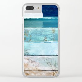 Beach Moonrise Clear iPhone Case