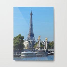 Summertime Paris Metal Print