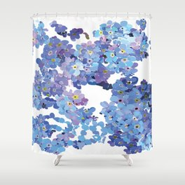 Periwinkle Flowers-Floral Design-Style 3-by Hxlxynxchxle Shower Curtain