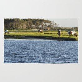 Chincoteague Ponies on Assateague Island Rug