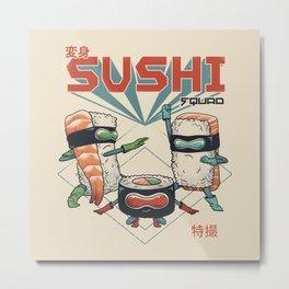 Sushi Squad Metal Print