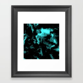 Teal and Black Framed Art Print