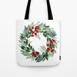 Holly Berry Tote Bag