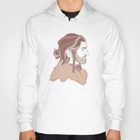 "thorin Hoodies featuring Thorin 'Manbun"" Oakenshield by rdjpwns"