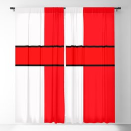 Team Color 6...red,white Blackout Curtain