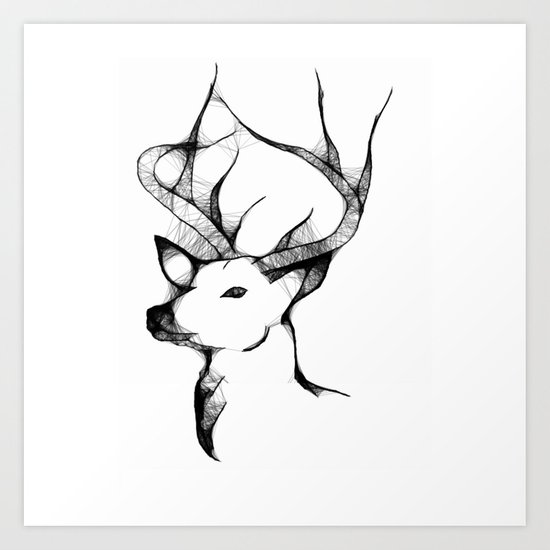 the proud king Art Print