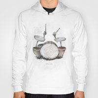 drums Hoodies featuring Mushroom drums by Anion