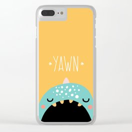 MONSTER YAWN Clear iPhone Case