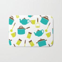 Kitchen Utensils, Cookware, Cutlery - Blue Green Bath Mat