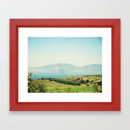 YESTERDAY YOU TOLD ME 'BOUT THE BLUE BLUE SKY Framed Art Print