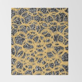 Abstract Beehive Yellow & Black Pattern Throw Blanket