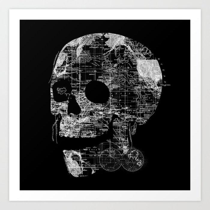 Skull Wanderlust Art Print