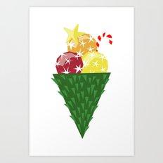 Icecold christmas Art Print