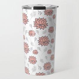 Pom Floral Pink Travel Mug