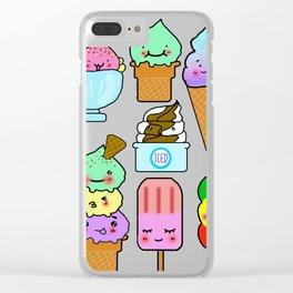 Summer Ice Cream Clear iPhone Case