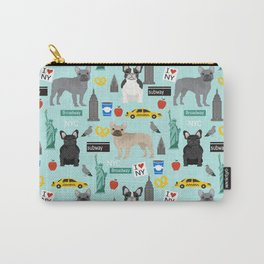 French Bulldog new york city tourist big apple dog breed pet friendly designs Carry-All Pouch
