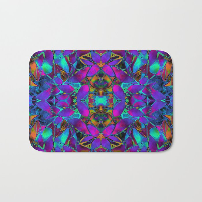 Fractal Floral Abstract G293 Bath Mat