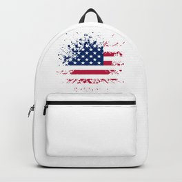 Grunge style american flag Backpack