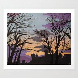 Sunsets over Lytham Art Print